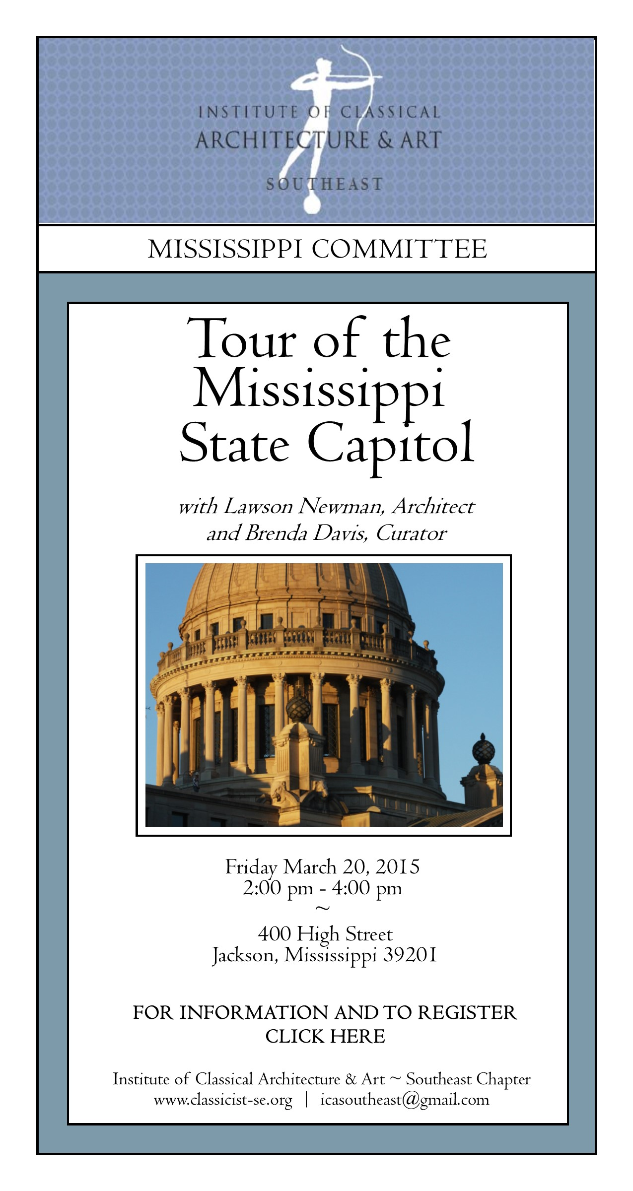 Mississippi Capitol Eblast - Blue