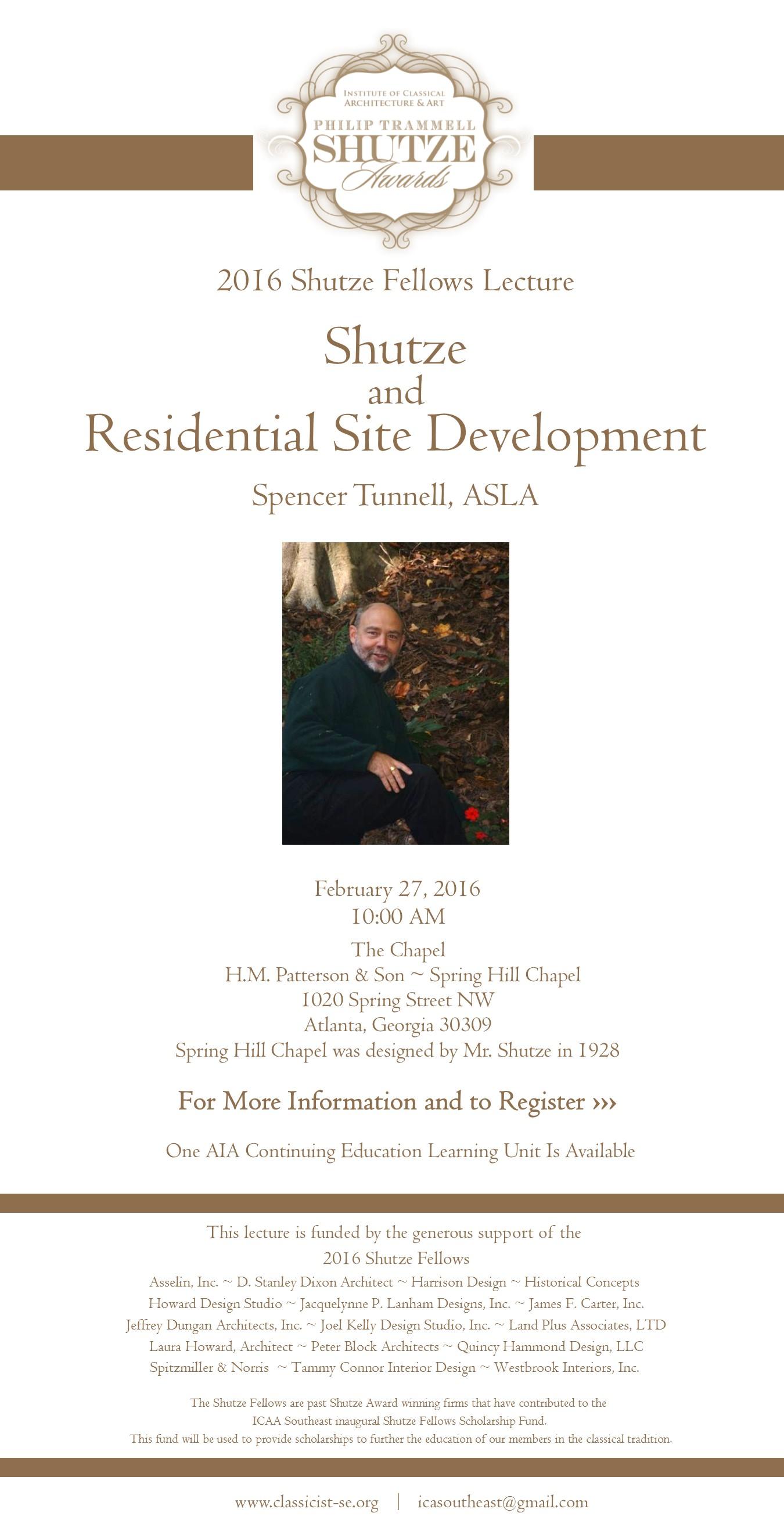 2016 Shutze Lecture