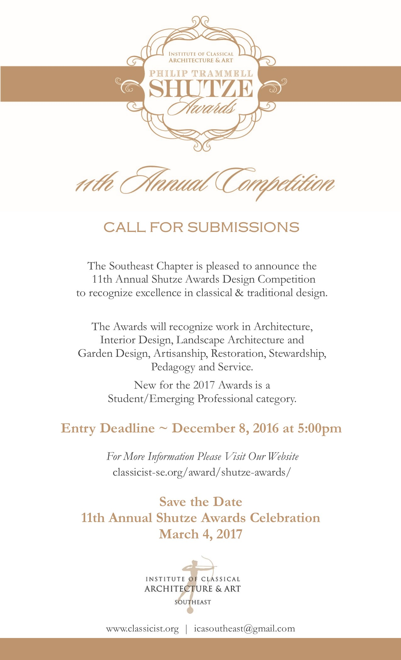 2017 Shutze Call for Submissions