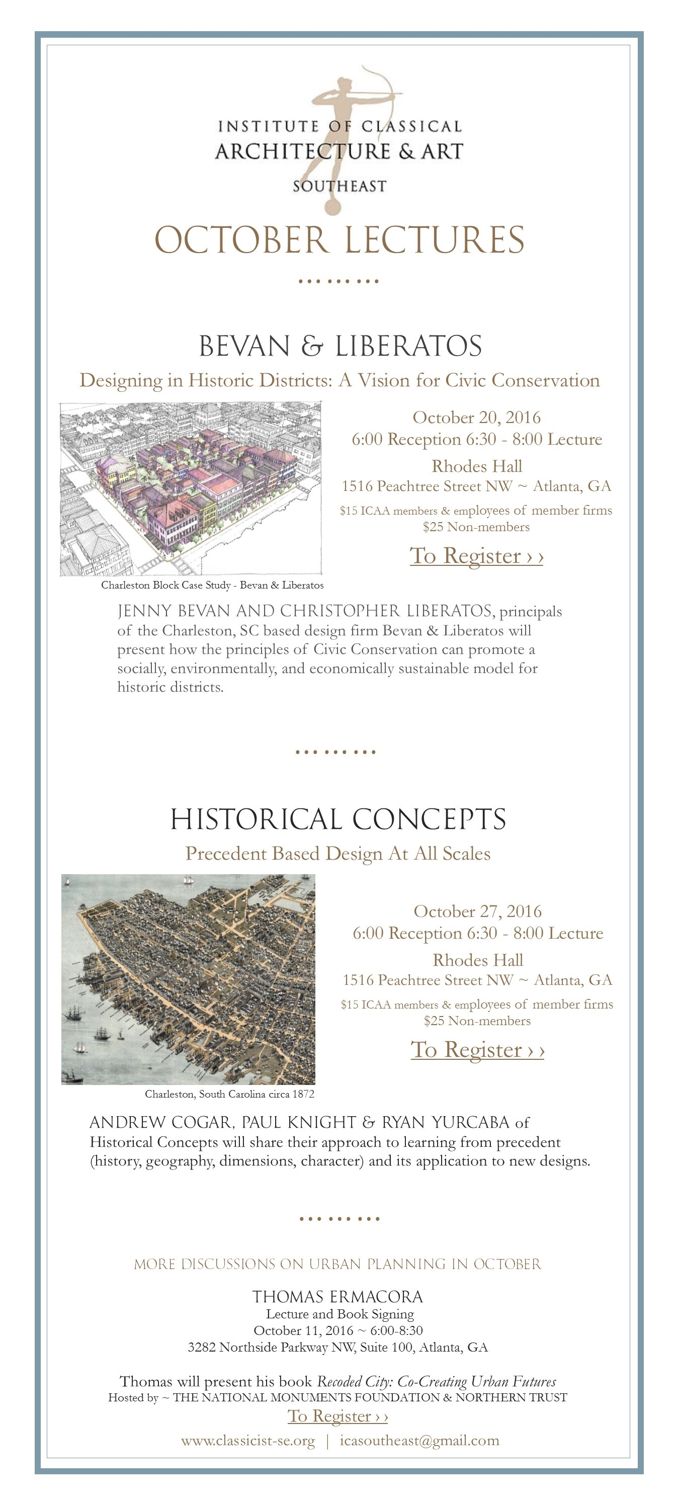 October 2016 Lecture eblast with links