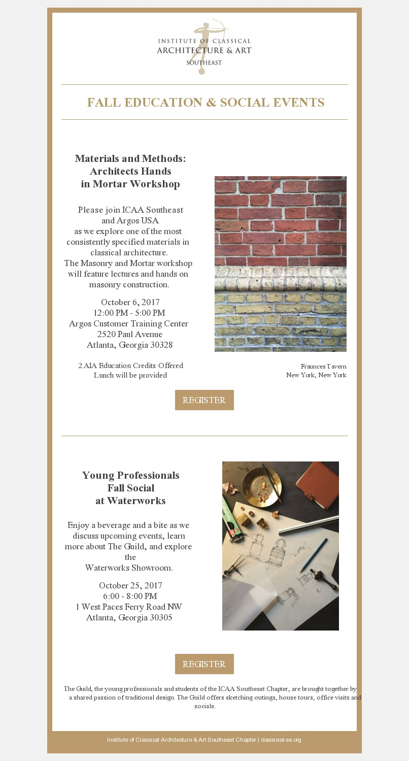 Southeast Masonry Workshop The Guild Social